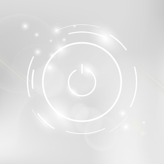 Ícone branco do botão liga / desliga