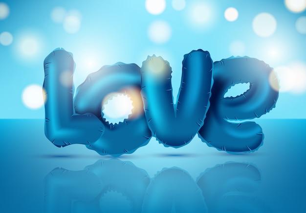 Ícone brilhante amor balão isolado para dia dos namorados