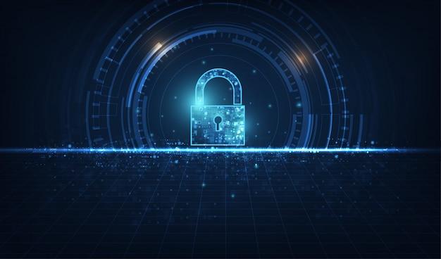 Ícone cadeado com fechadura na segurança de dados pessoais ilustra a ideia de privacidade de dados ou informações cibernéticas.