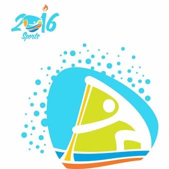 Ícone canoa sprint jogos olímpicos rio