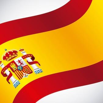 Ícone clássico de bandeira da cultura espanhola
