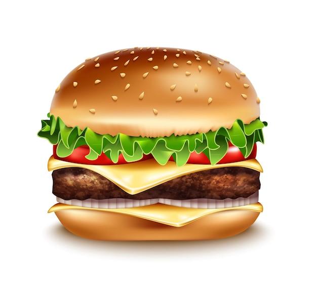 Ícone clássico de hambúrguer.