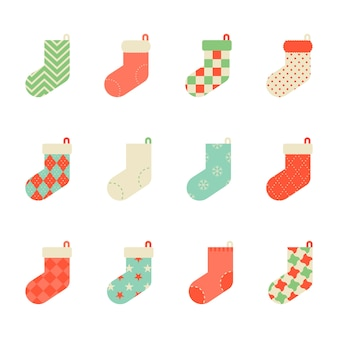 Ícone colorido da coleção de meia