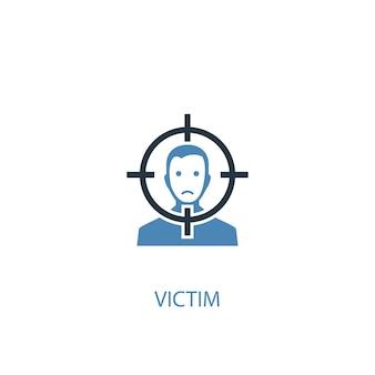 Ícone colorido de conceito 2 de vítima. ilustração do elemento azul simples. vítima conceito símbolo design. pode ser usado para ui / ux da web e móvel