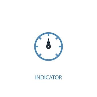 Ícone colorido do conceito 2 do indicador. ilustração do elemento azul simples. design de símbolo de conceito de indicador. pode ser usado para ui / ux da web e móvel