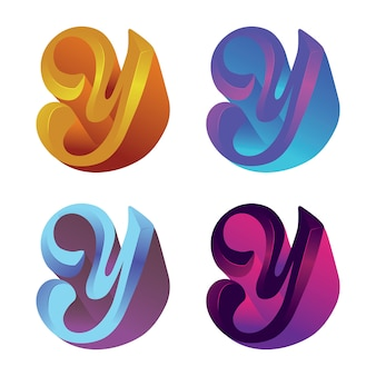 Ícone colorido moderno logotipo y