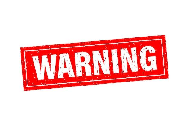Ícone com carimbo de advertência vermelho