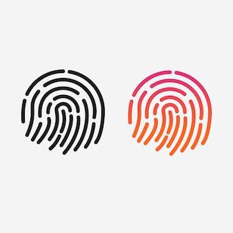 Ícone da aplicação de identificação fingerprint para identificação.