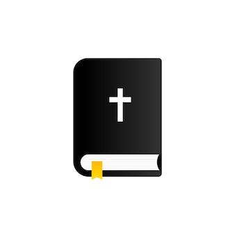 Ícone da bíblia. escritura sagrada. conceito cristão. vetor em fundo branco isolado. eps 10.