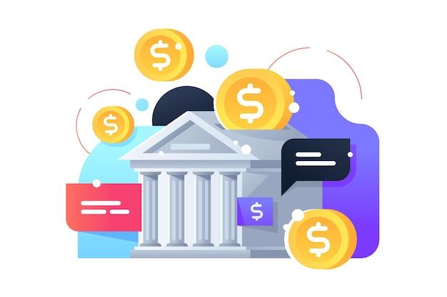 Ícone da caixa de dinheiro do banco, economizando moedas de ouro. edifício de conceito isolado para dinheiro de segurança moderno usando tecnologia da web.