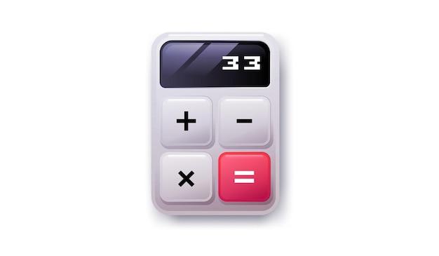 Ícone da calculadora. ilustração em vetor dispositivo isolado matemática teclado digital.