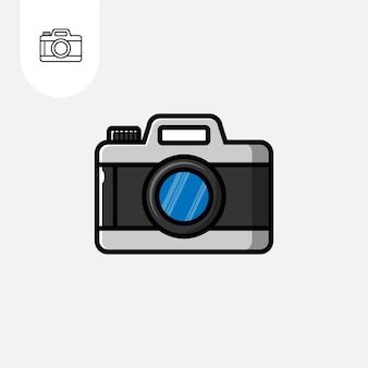 Ícone da câmera design plano dos desenhos animados