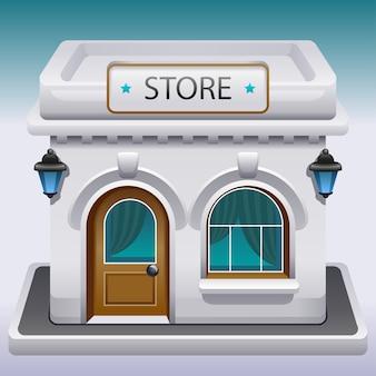 Ícone da fachada de uma loja ou café