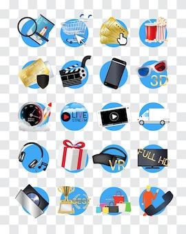 Ícone da loja de filmes on-line