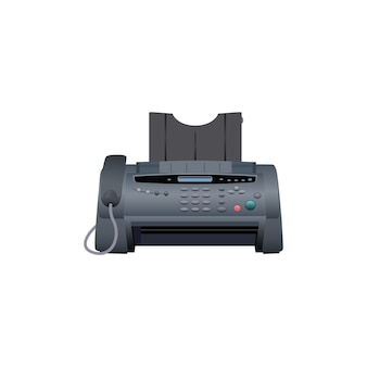 Ícone da máquina de fax. equipamento de trabalho para escritório.