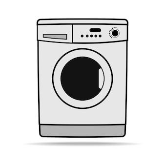 Ícone da máquina de lavar. símbolo de eletrodomésticos. ilustração em vetor plana simples e moderna para site ou aplicativo móvel
