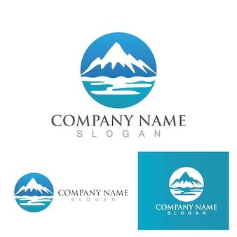 Ícone da montanha design de ilustração vetorial de modelo de logotipo