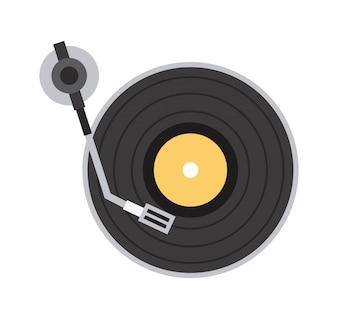 ícone da música sobre ilustração vetorial de fundo branco