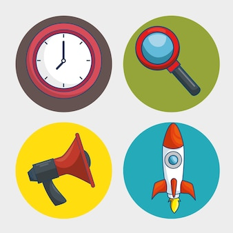 Ícone da tecnologia de marketing digital