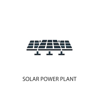 Ícone da usina solar. ilustração de elemento simples. projeto de símbolo de conceito de usina solar. pode ser usado para web e celular.