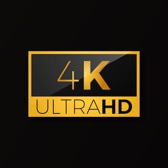 Ícone de 4k ultra hd