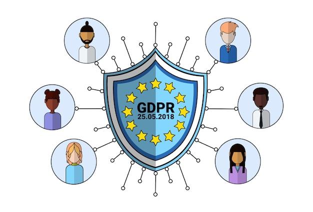Ícone de agente de suporte de escudo de segurança de dados