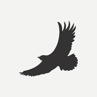 Ícone de águia. modelo de logotipo. ave de predador. ilustração vetorial.