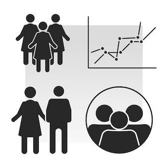 Ícone de análise de população