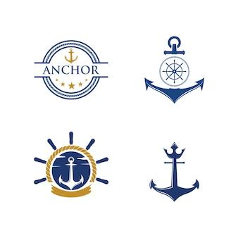 Ícone de âncora ilustração vetorial logo template