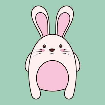 Ícone de animais coelho kawaii