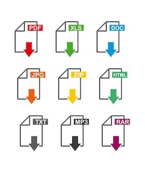 Ícone de arquivo de download de seta
