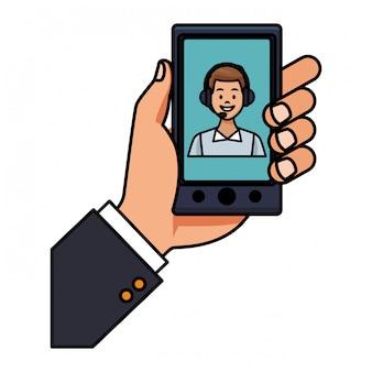 Ícone de assistência de smartphone
