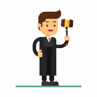 Ícone de avatar de personagem de homem. o juiz