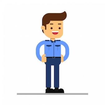 Ícone de avatar de personagem de homem. sala de segurança e guardas de trabalho