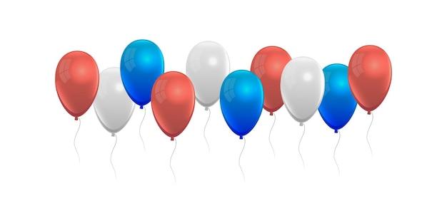 Ícone de balões com cores dos eua