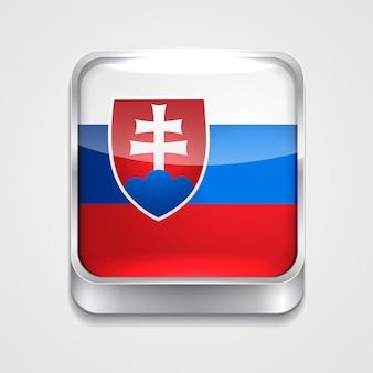 Ícone de bandeira de estilo da eslováquia