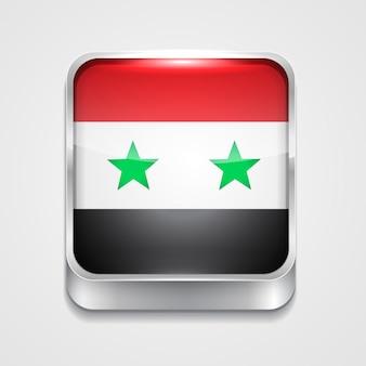 Ícone de bandeira de estilo vetor 3d da síria