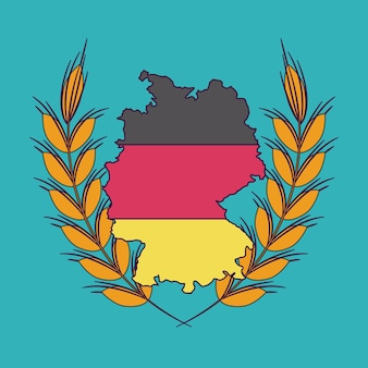 Ícone de bandeira de orelha de trigo de alemanha