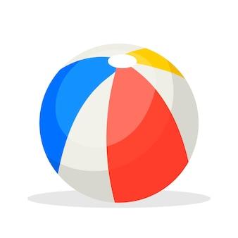 Ícone de bola de brinquedo infantil isolado no fundo branco para seu projeto