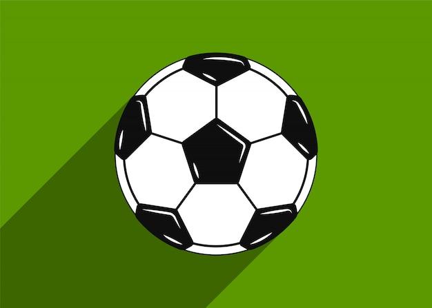 Ícone de bola de futebol. design plano.