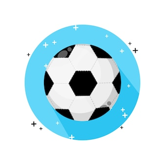 Ícone de bola de futebol isolado no branco