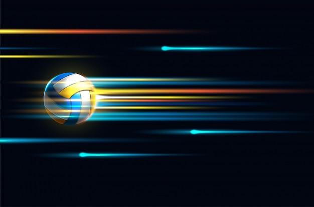 Ícone de bola de vôlei colorido