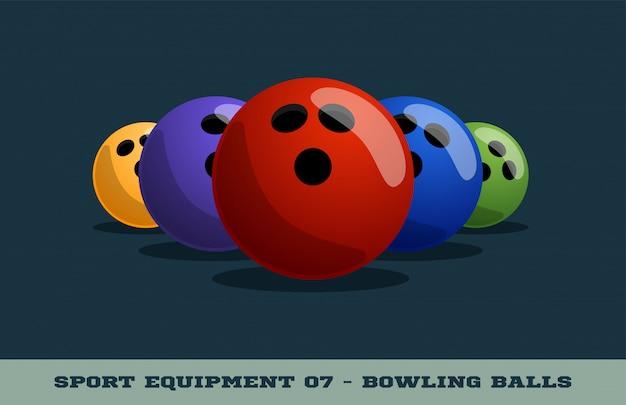 Ícone de bolas de boliche. equipamento esportivo.