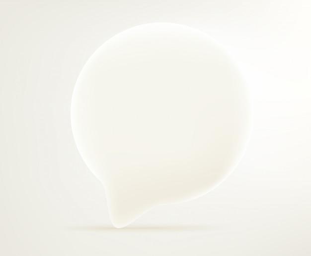 Ícone de bolha de diálogo. ilustração em vetor editável estilo cômico 3d