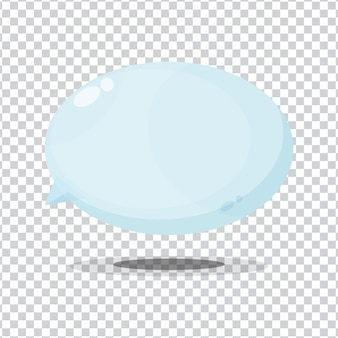 Ícone de bolha em fundo branco