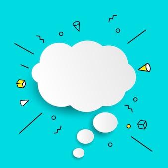 Ícone de bolhas do discurso de mão desenhada.