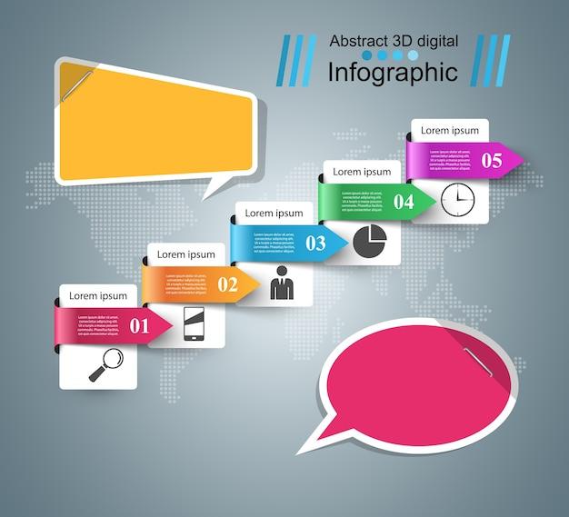 Ícone de bolhas do discurso. informações da caixa de diálogo. infográfico abstrato