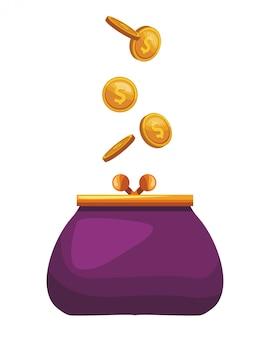 Ícone de bolsa de moedas