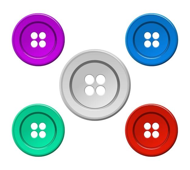 Ícone de botão colorido de costura