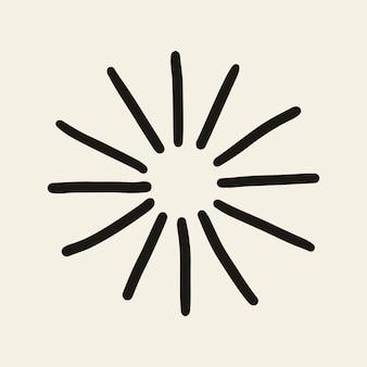 Ícone de brilhos de vetor de estrelas em estilo doodle em fundo bege